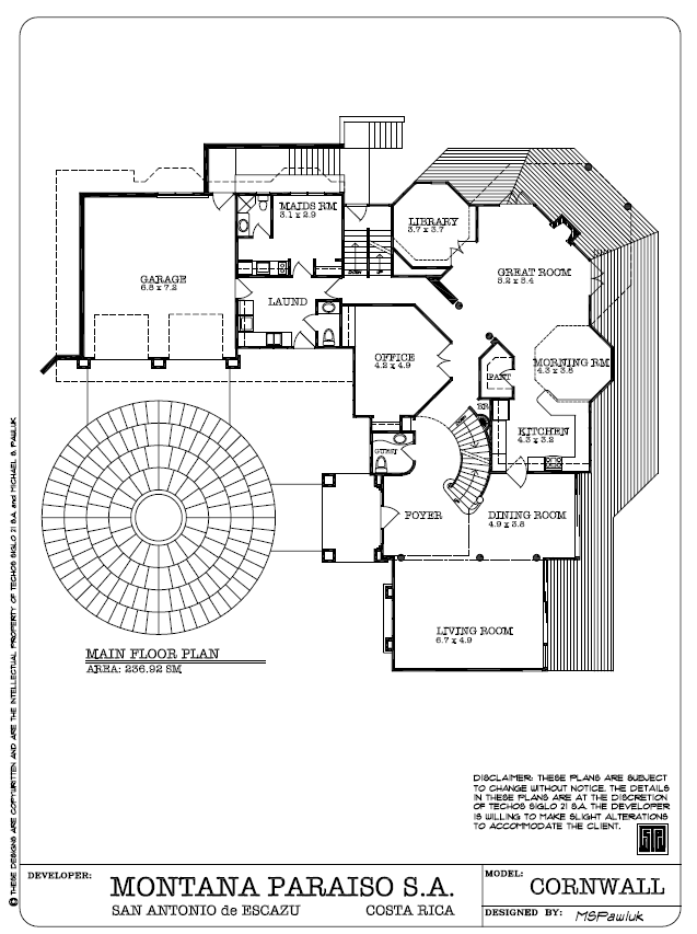 Cornwall Main Floor Plan - Plano Principal