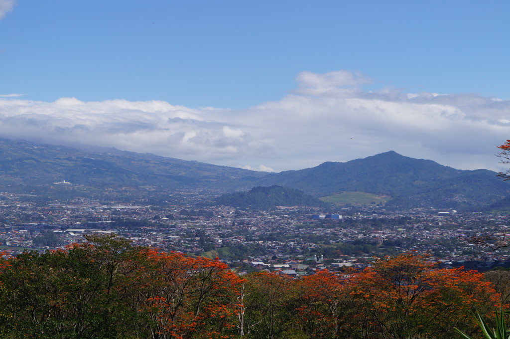 View from Montana Paraiso to Irazu