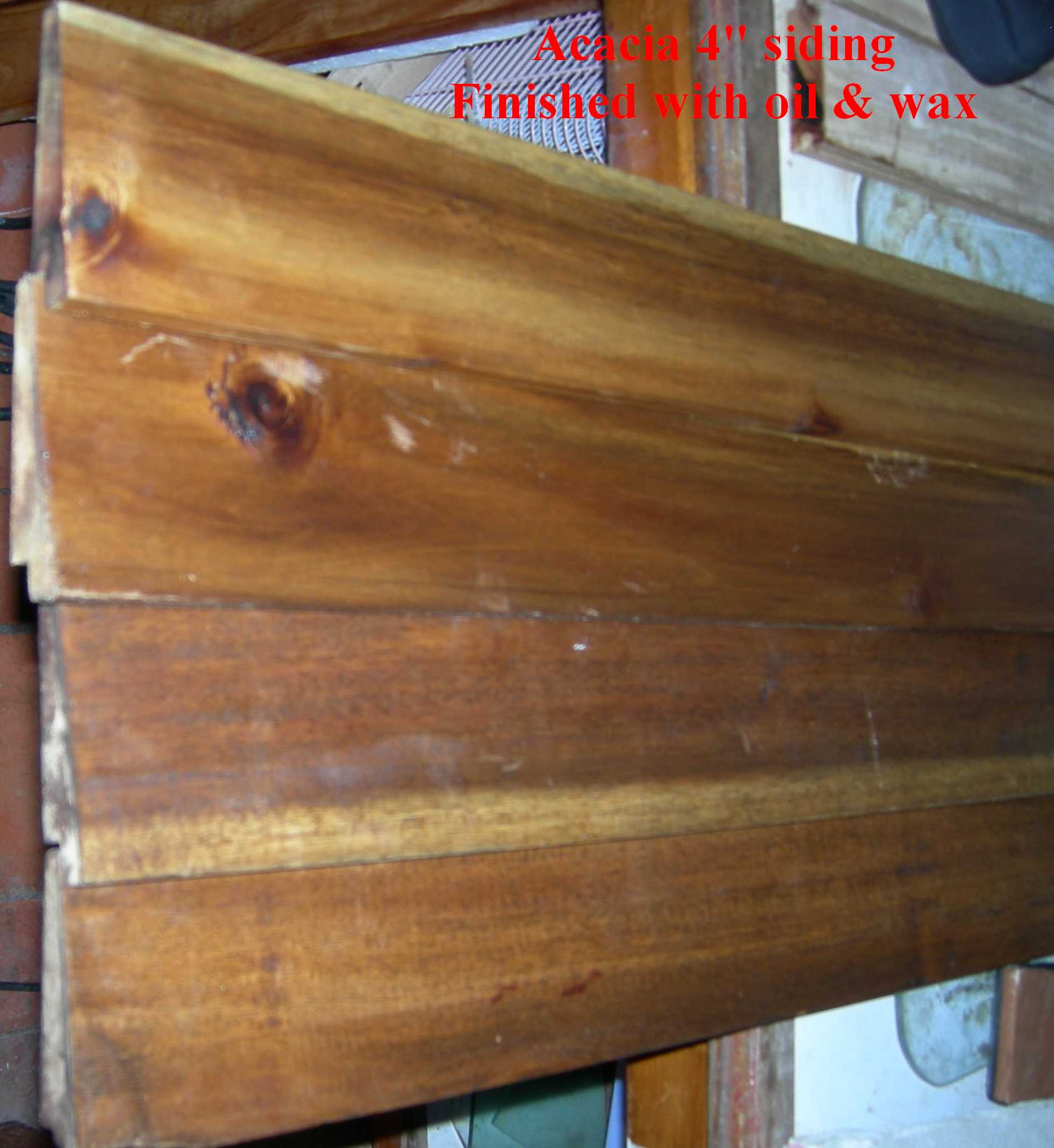 "Acacia 4"" beveled wood siding"