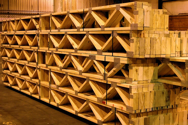 Softwood Web Joists ready for shipment, Montaña Paraiso, Escazu, Costa Rica