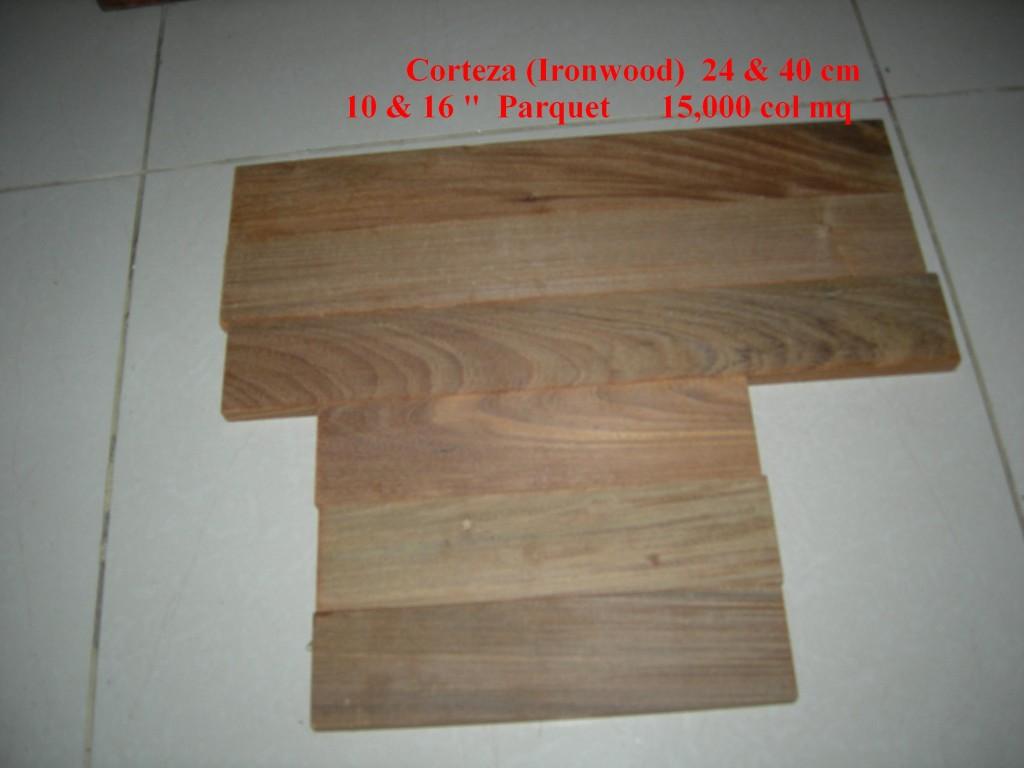 """Corteza or Ironwood Parquet Flooring in 10"""" and 16"""", Montaña Paraiso, Escazu, Costa Rica"""