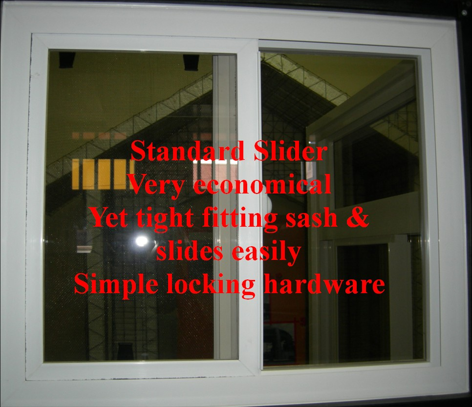 PVC Slider Window operates smoothly - entry level window at low cost