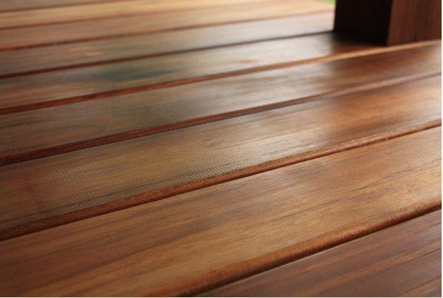 Teak decking in a 1 x 4 with rounded edges, Montaña Paraiso, Escazu, Costa Rica