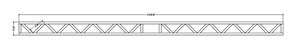 Design of typical web joist of 5.1 meter span, Montaña Paraiso, Escazu, Costa Rica