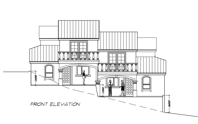 Front Elevation of Windsor A/B