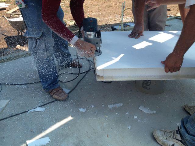 Cutting spline with custom cutter