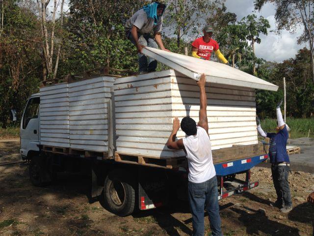 Off loading panels to homesite