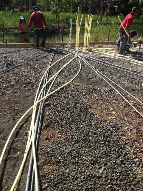 PEX and conduit runs