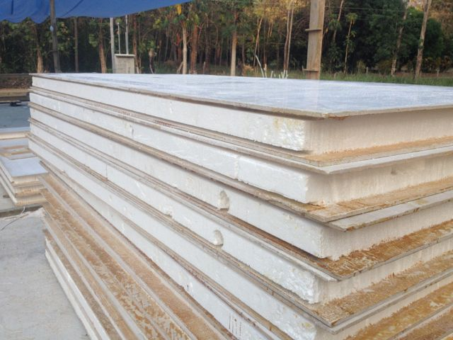Stack of panels splined and ready to go