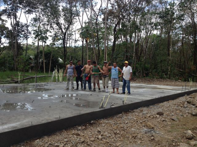 Work crew after completion of slab