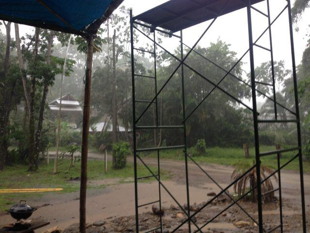 first rain test