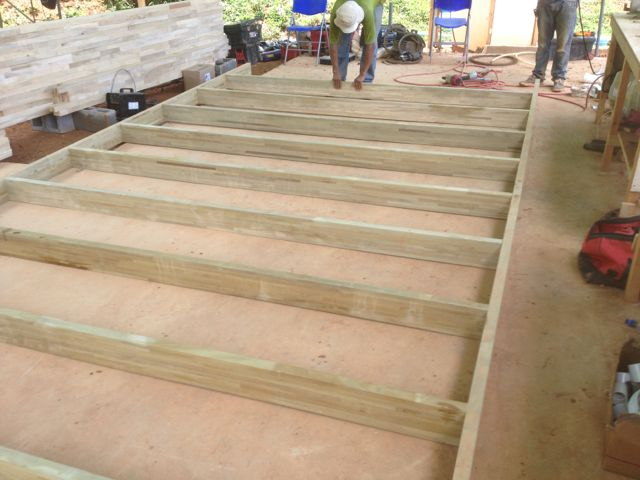 First floor frame of glu-lams