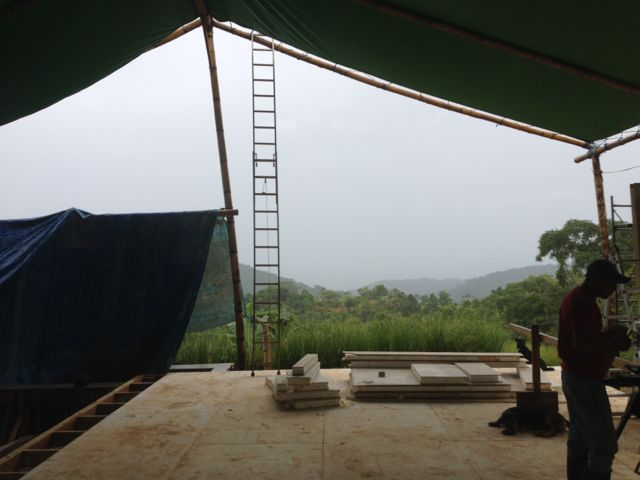 Pouring rain & tent