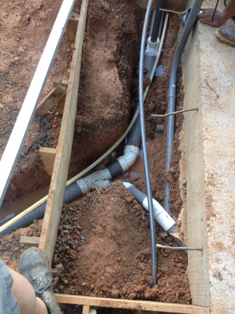 Sewer main feed line