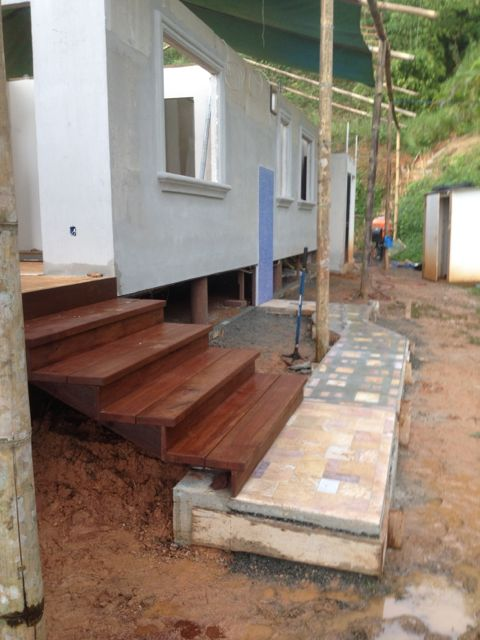 steps off deck