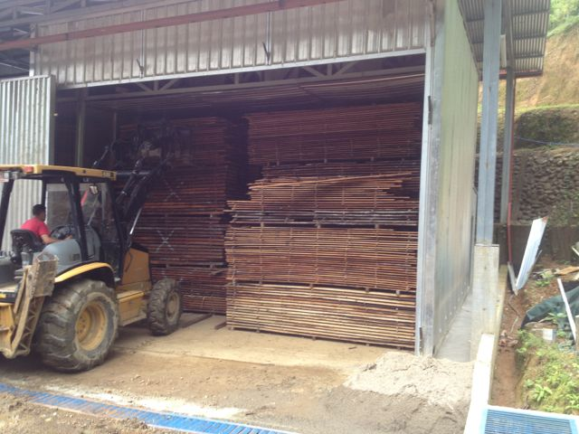 unloading kiln