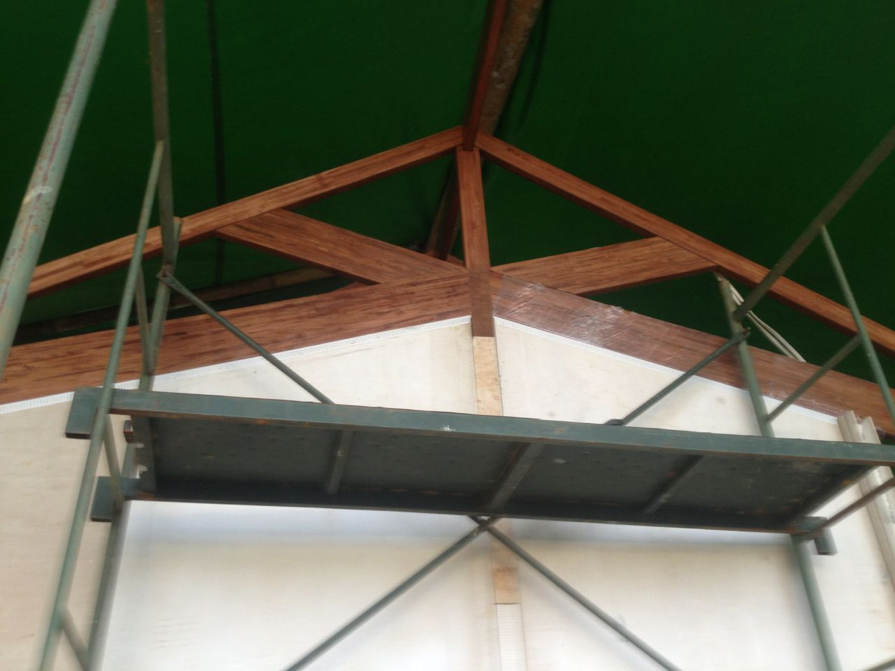 Front view of rafters