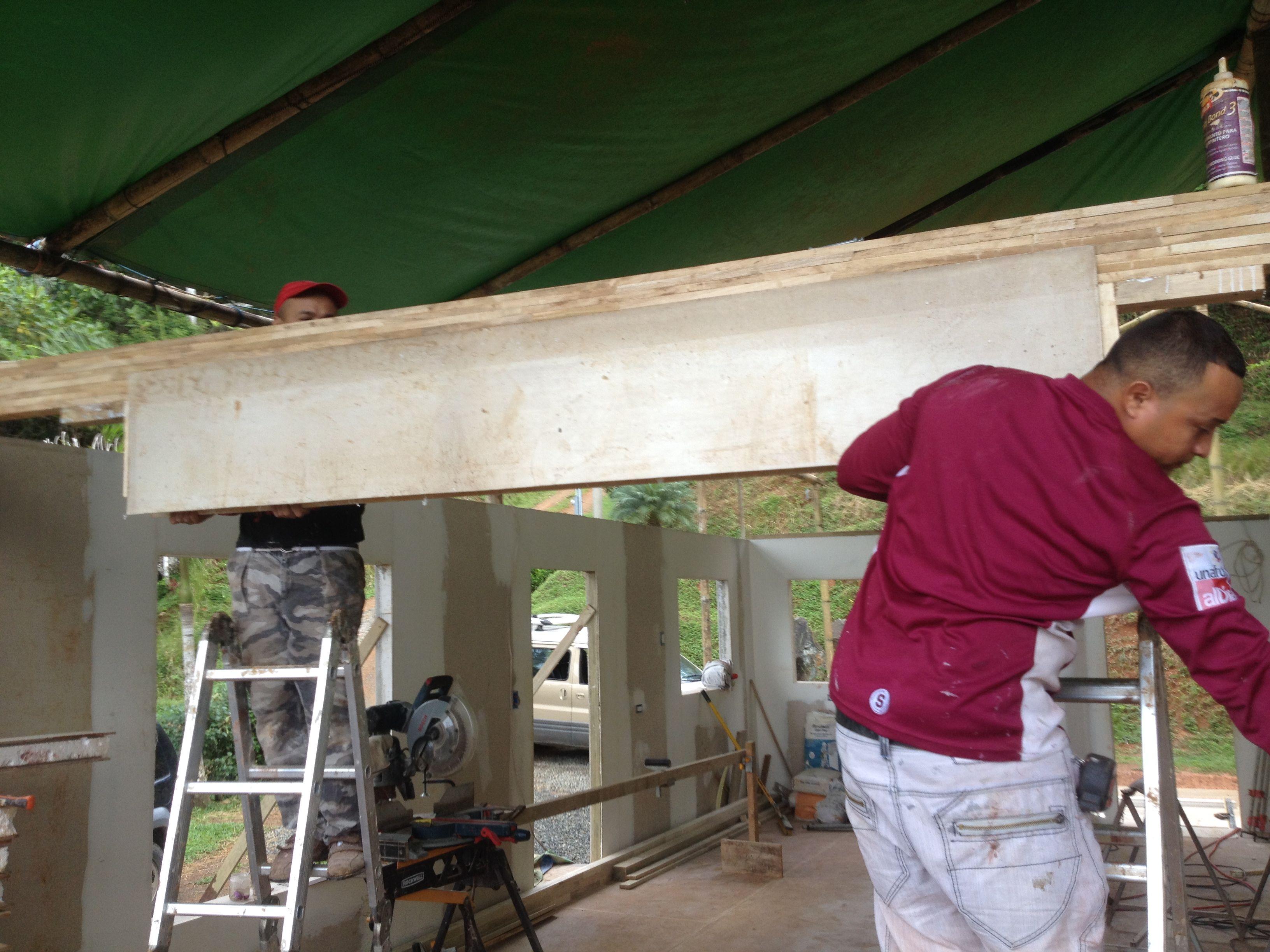 Panelizing lintel