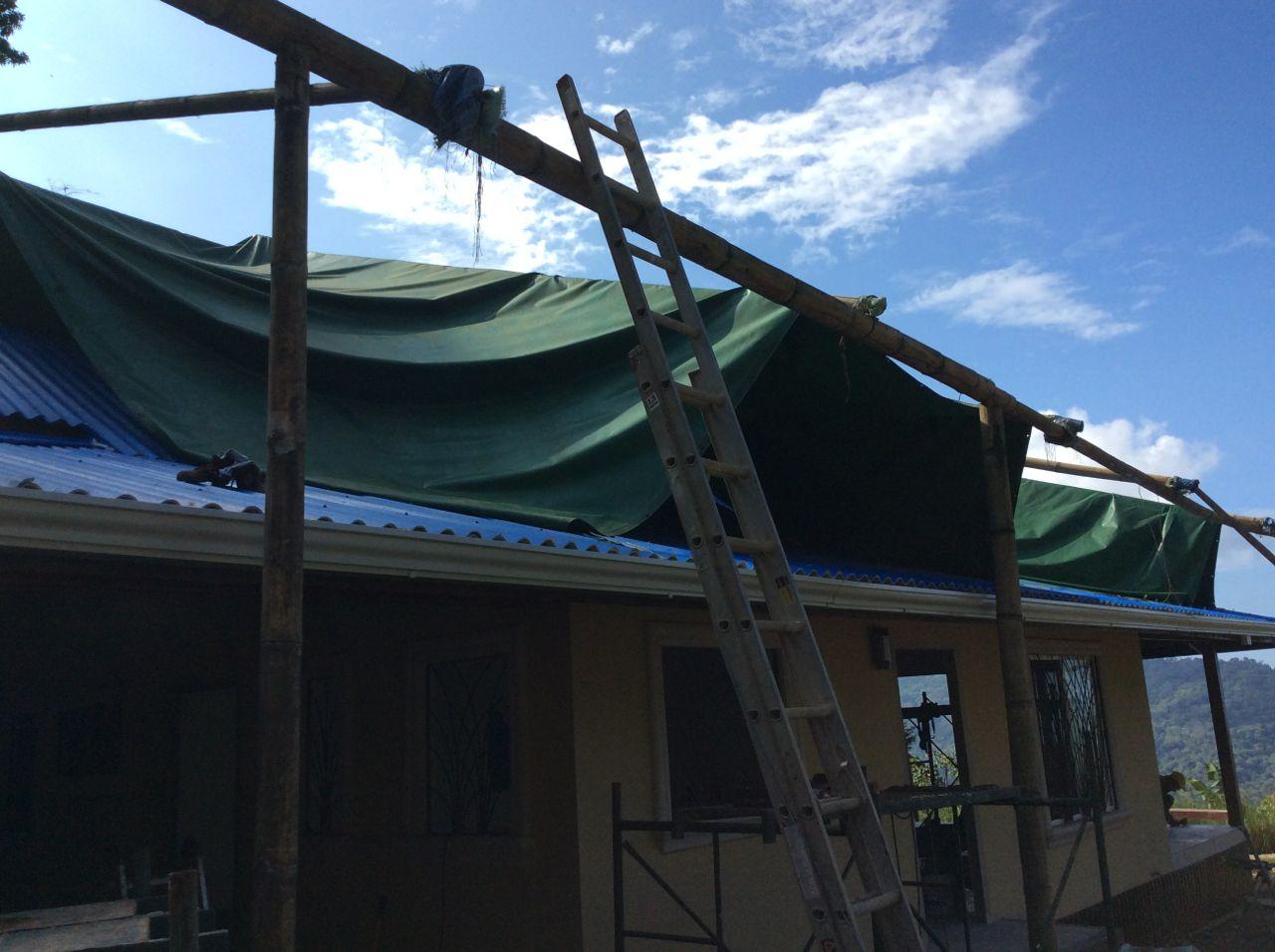 Front tarp coming