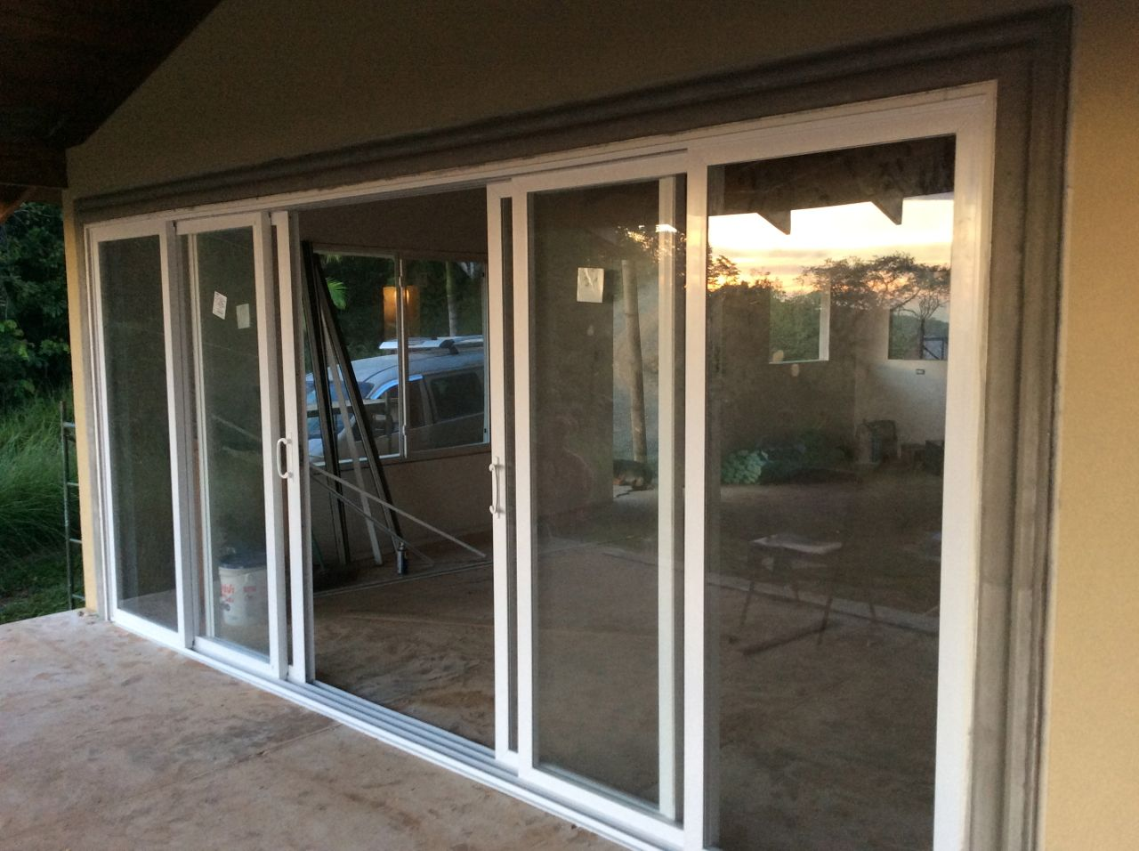 Patio door outside
