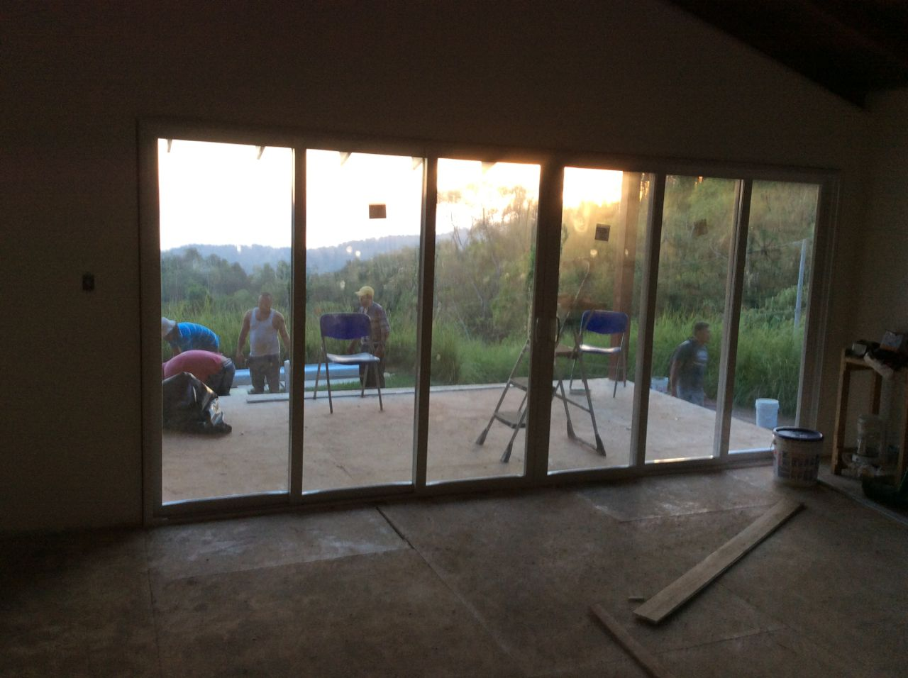 Patio from inside