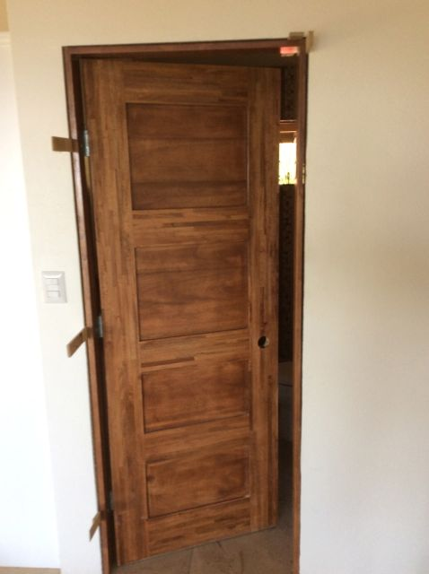 First interior door