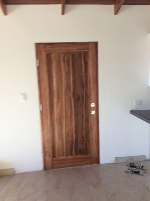 Front door hung