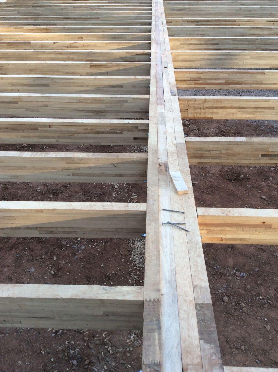 4 ply beam at deck