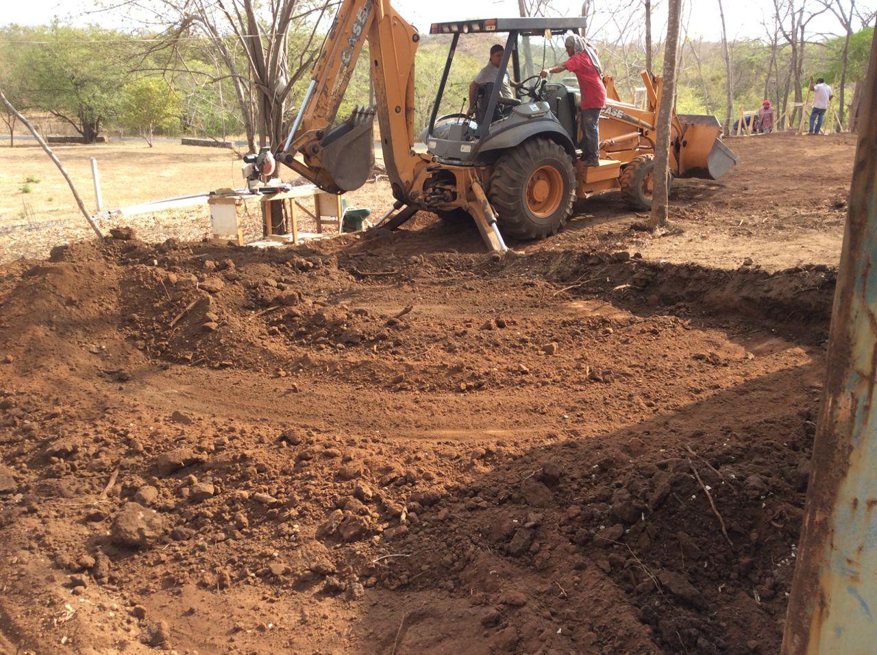 Carport excavation