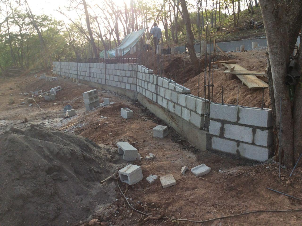 Lower wall blocked in