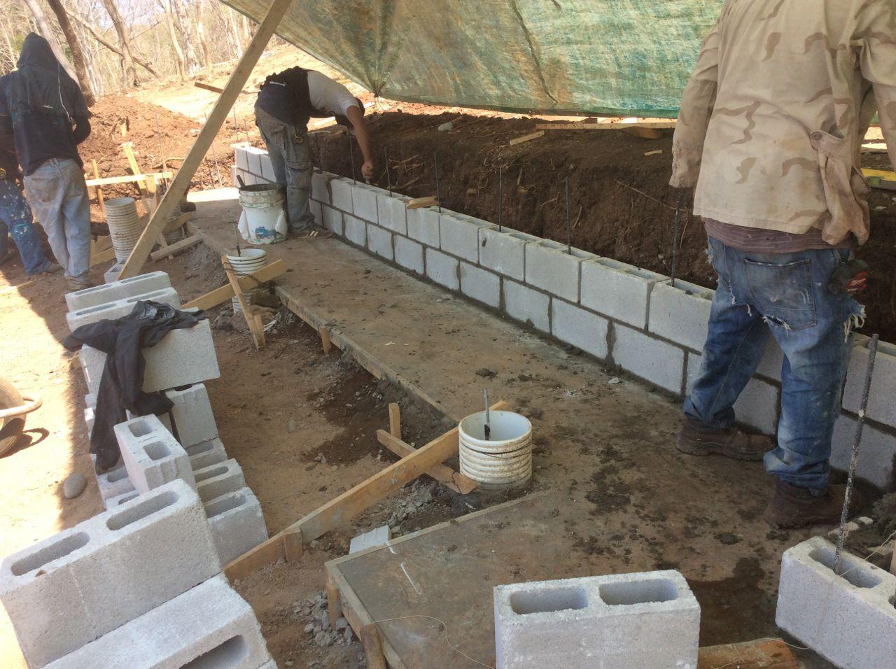 Retaining wall start