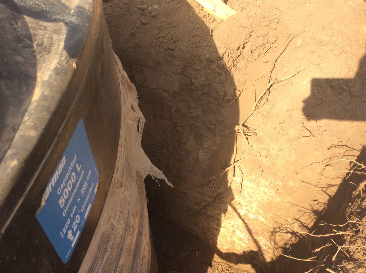 Watertank in place