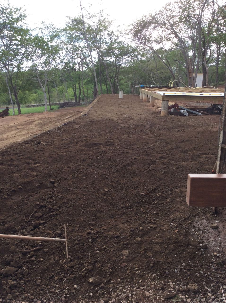Retaining wall backfilled
