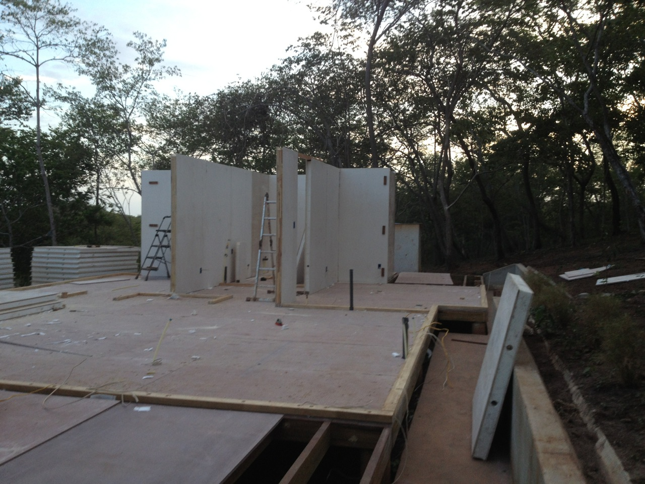 Walls up first two days 2