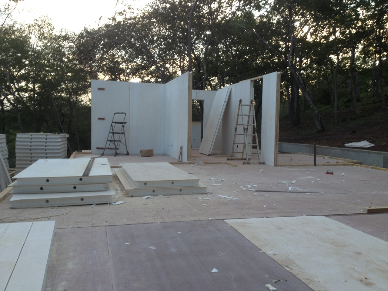 Walls up first two days