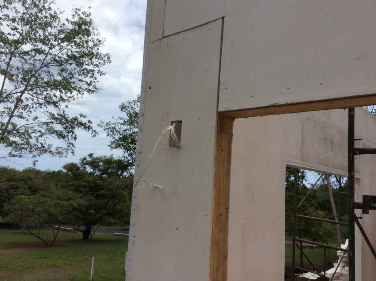 Boxes installed to service security cameras