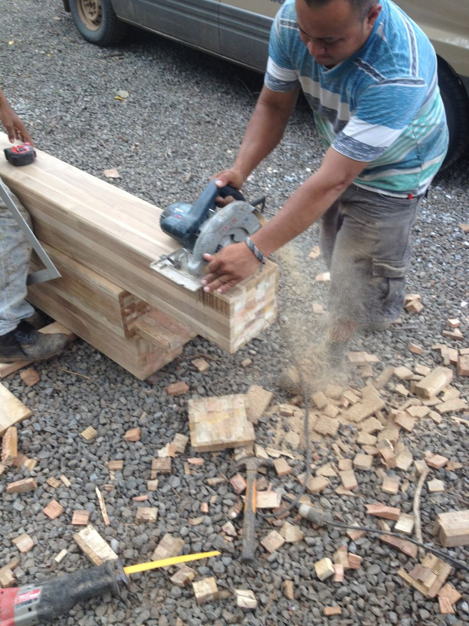Cutting posts to length