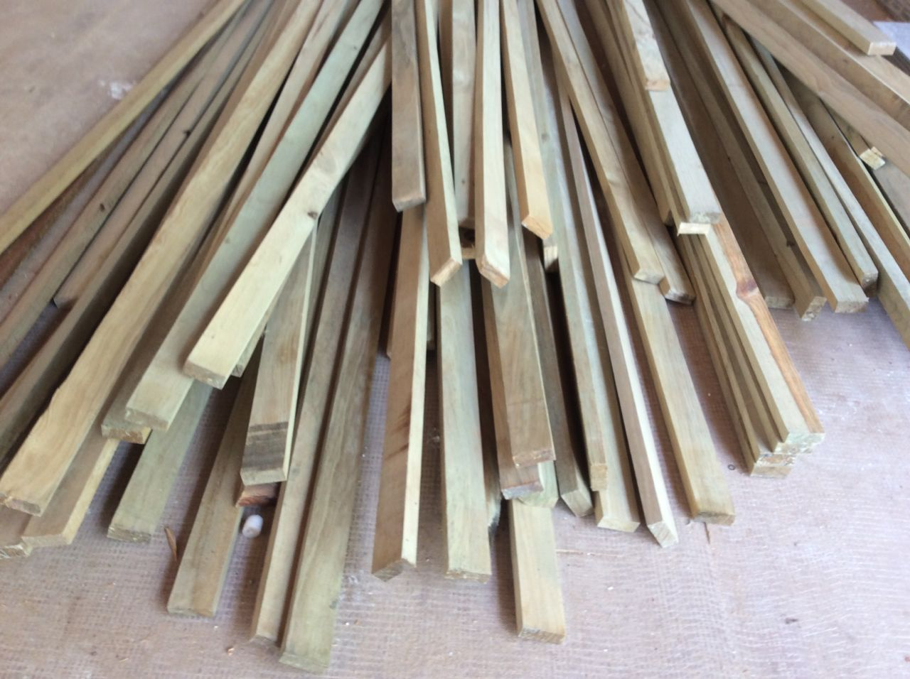 Treated pine strapping