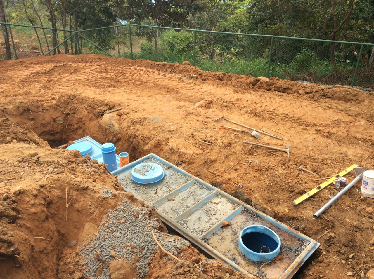 Septic tank and biofilter in